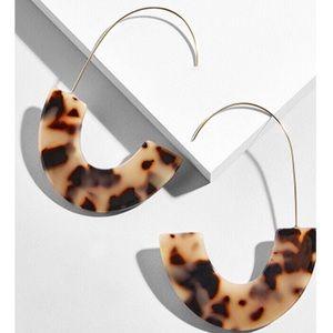 Jewelry - 2 pr/$20 Acrylic Semicircle Drop Earrings, Leopard
